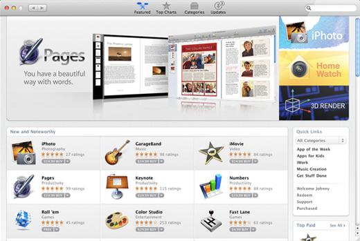 De Mac App Store in 2011.