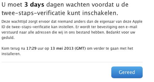 In die drie dagen kan Apple mooi de vertaalfout oplossen.