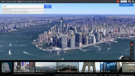 De nieuwe Google Maps (web versie).