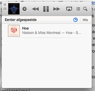 De miniplayer in iTunes 11.0.2