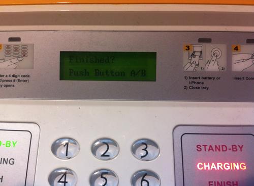Een indicator geeft aan of het apparaat vrij of in gebruik is.