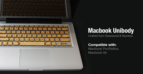 Een MacBook met houden toetsen.