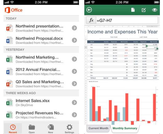 Office voor iPhone is voortaan gratis.