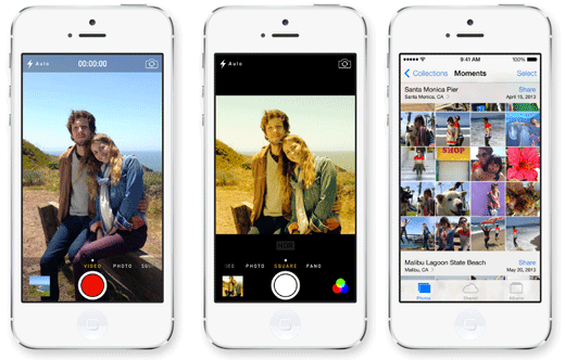 De Camera en Foto's App