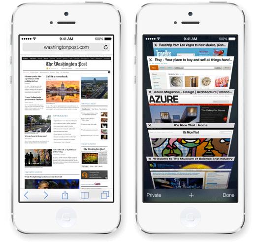 Safari met vernieuwde fullscreen weergave