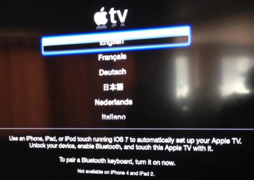 De Apple TV laat zich nu ook via Bluetooth instellen.