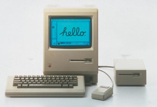 De eerste Mac, uit 1984.