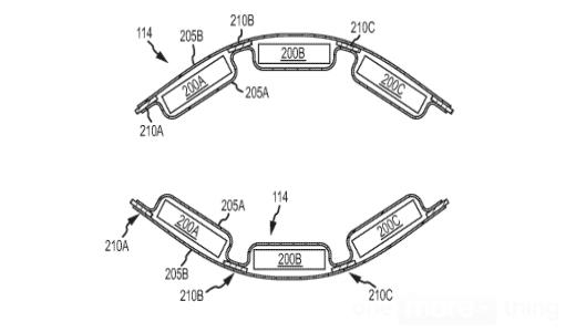 Een voorbeeld van de flexibele accu uit de patentaanvraag.
