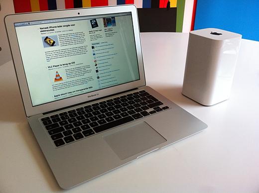 De nieuwe MacBook Air en nieuwe Airport Extreme.