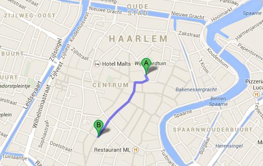 iCentre en de toekomstige Apple Store in Haarlem op loopafstand.