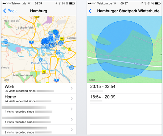 Waar, wanneer, hoe laat en hoe lang je ergens was? iOS 7 weet het.