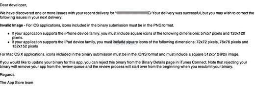 De e-mail die ontwikkelaars ontvingen [via 9to5Mac]