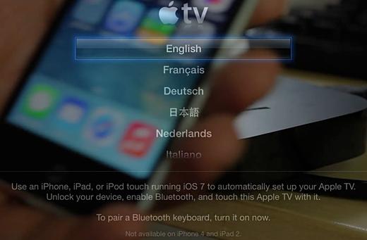 Apple TV instellen door middel van iBeacons.