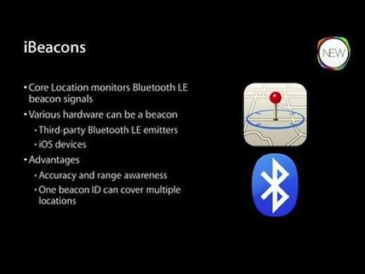 Sheet met uitleg over iBeacons.