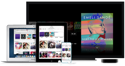 iTunes Radio is in de VS beschikbaar op iOS, OS X en Apple TV.