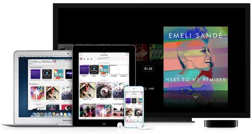 iTunes Radio is in de VS beschikbaar op iOS, OS X en Apple TV.