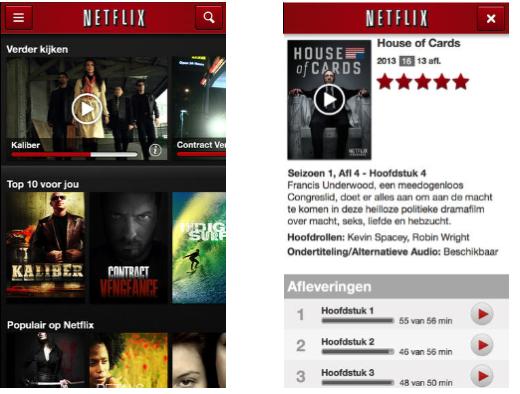 De Netflix-app is inmiddels in de Nederlandse App Store beschikbaar.