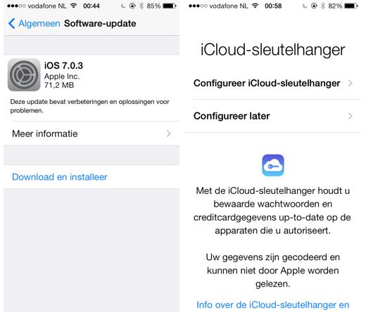 iOS 7.0.3 is beschikbaar.