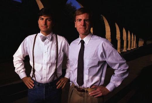 Steve Jobs en John Sculley in de jaren 80.