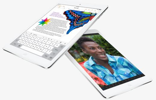 Een blik op de voorkant van de iPad Air.