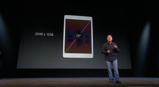 De iPad mini 2 heeft een volwaardig Retina Display.