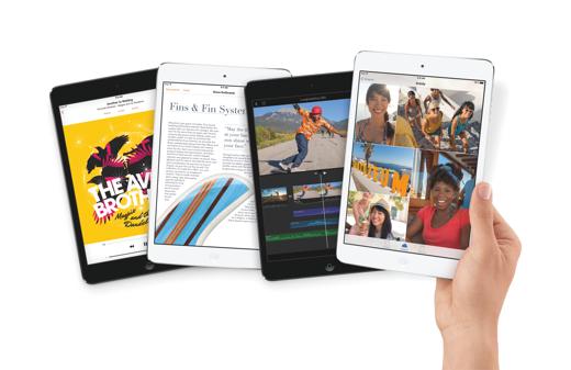De iPad mini met Retina-scherm is verkrijgbaar in spacegrijs en zilver.
