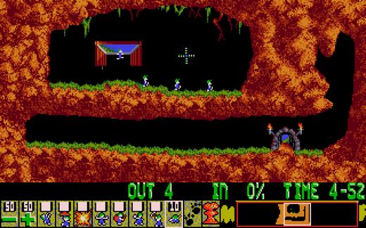 Lemmings, een voorbeeld van een typische Amiga classic.
