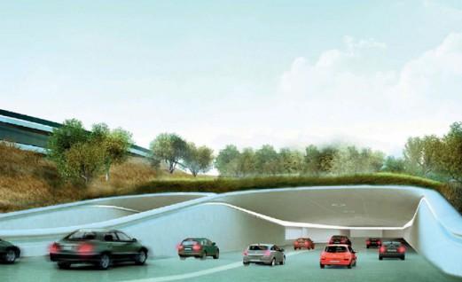 Boven- en ondergrondse parkeergarage