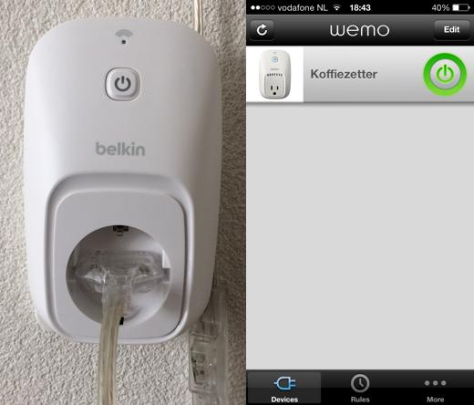 Interface Belkin WeMo Switch