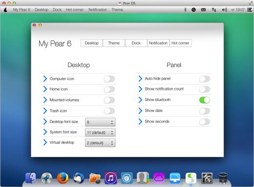 iOS 7-elementen blijken het op de desktop best aardig te doen.