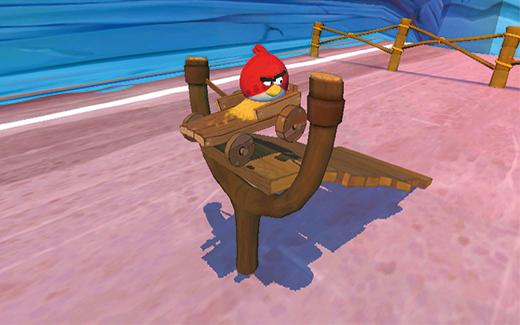 Lanceer je Angry Bird het downhill parcours op.