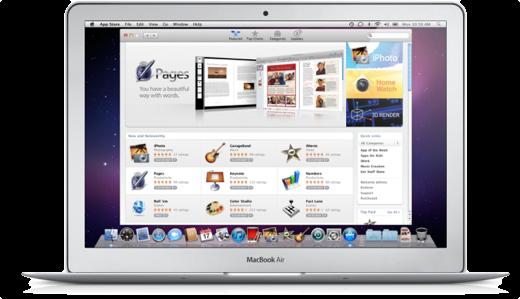 De App Store is sinds Snow Leopard 10.6.6 op Macs aanwezig.