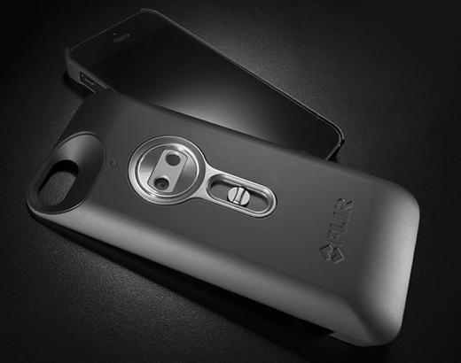 De Flir One voor iPhone 5 en 5s bevat een eigen warmtecamera.