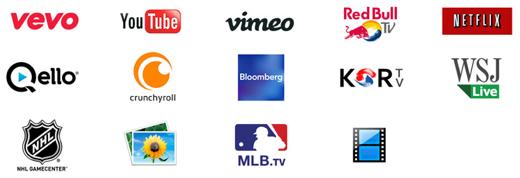 De derde partijen die nu in Nederland en België in het menu van de Apple TV verschijnen.