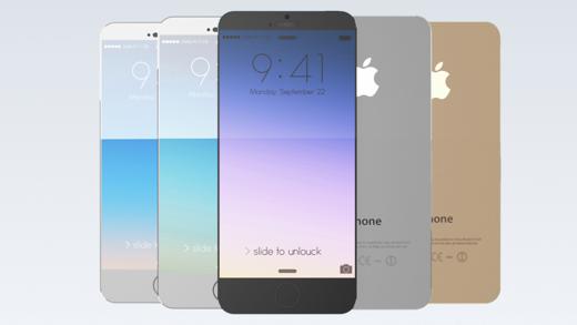 Concept van een iPhone 6 met groot scherm.