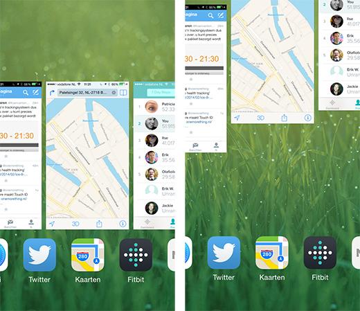 In één keer alle apps verwijderen kan niet, je kunt er wel 3 tegelijk wegvegen