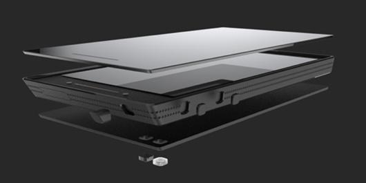 Aanvankelijk zou de Ubuntu Edge-smartphone ook een scherm van saffier krijgen.