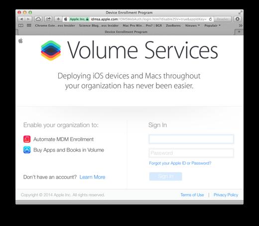 De webportal voor Volume Services is al online.