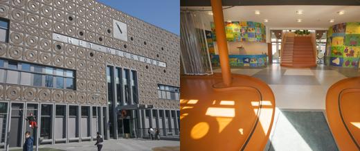 De gebouwen van de nieuwe Steve Jobs-scholen in Amsterdam.