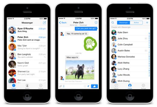 Facebook Messenger is net als WhatsApp van Facebook.