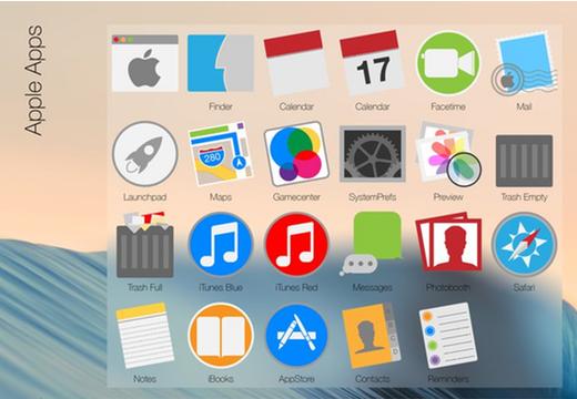 De standaard-apps opnieuw vormgegeven door Niek Sanderman