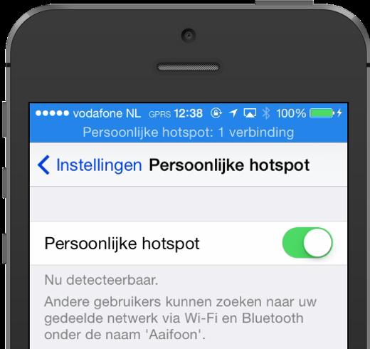 Persoonlijke Hotspot werkt soms niet in iOS 7.1