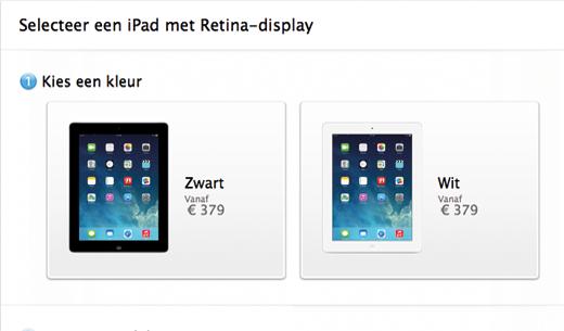 De iPad met Retina-display is weer te bestellen.