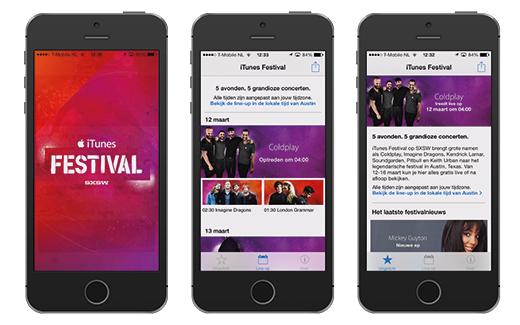 Beleef het iTunes festival op je iPhone, iPad of iPod Touch met de officiële app.