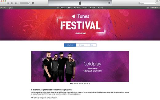 Beleef het festival via de iTunes Store.
