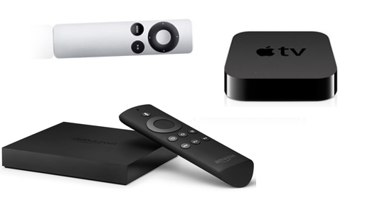 De Fire TV-settopbox lijkt op de Apple TV.
