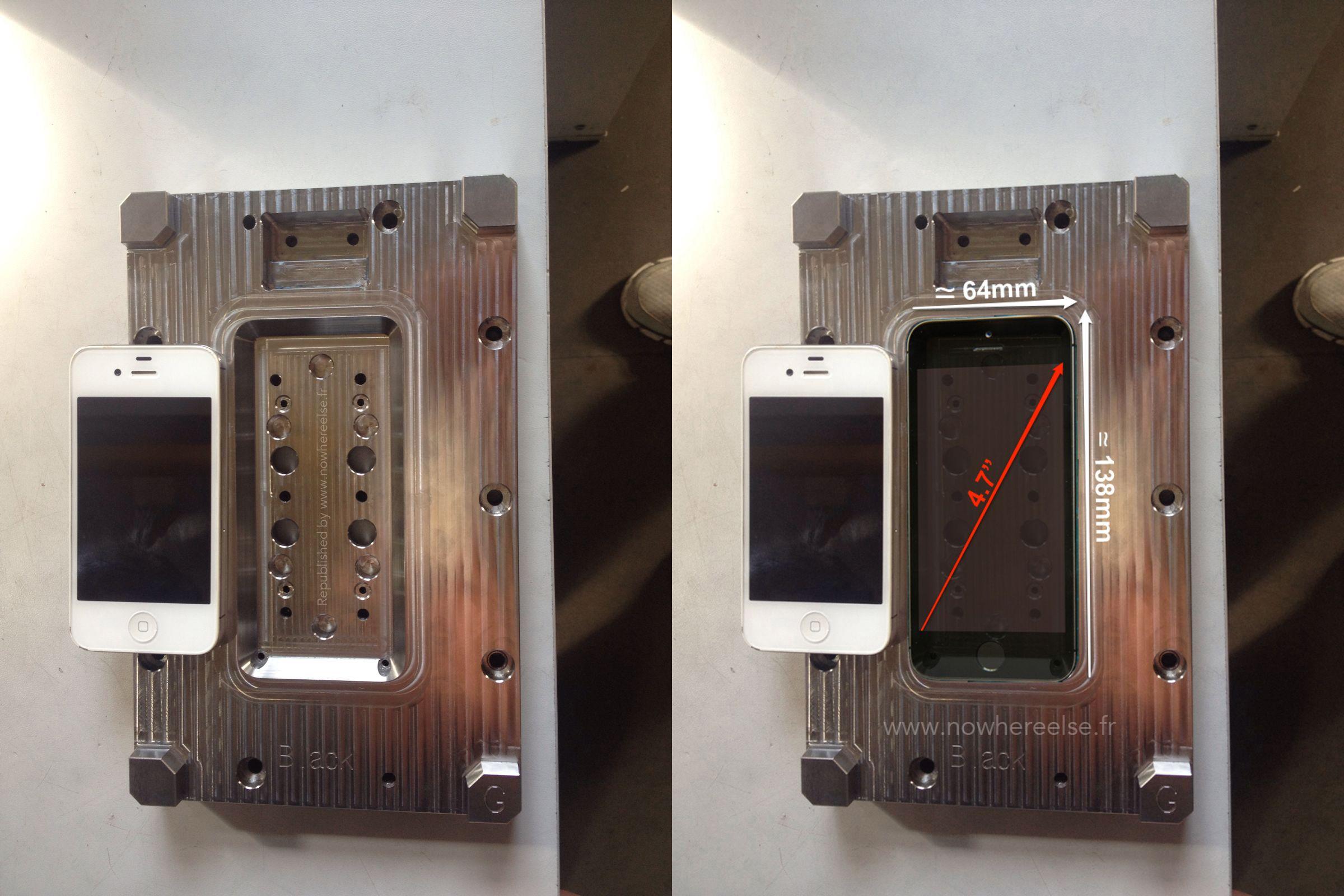 Mallen voor productie van de iPhone 6.