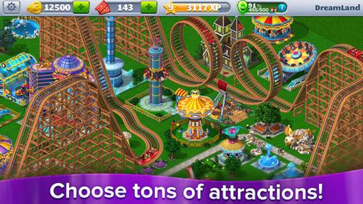 Bekende attracties hebben hun weg naar de iOS-versie gevonden.