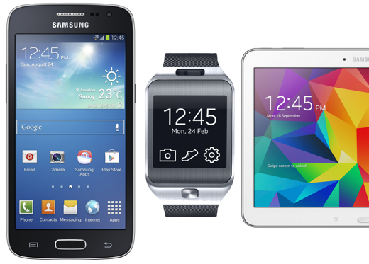 Bij Samsung is het altijd 12:45 uur.