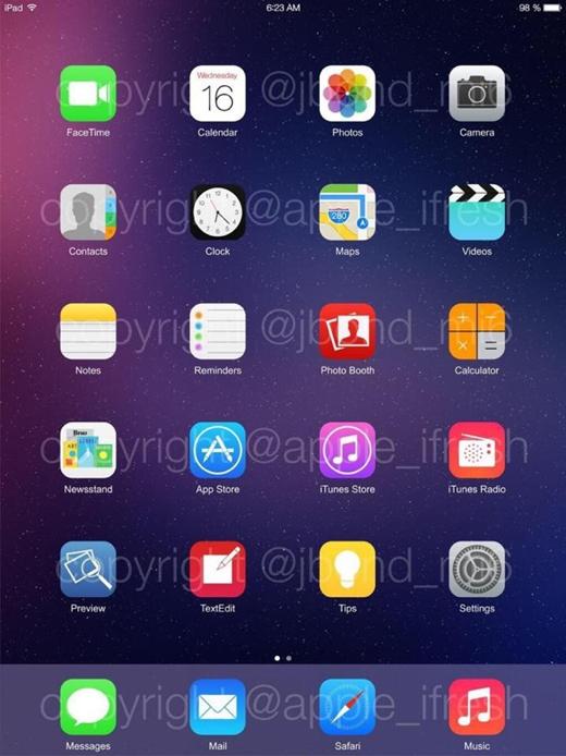 Op een iPad ziet het er zo uit.